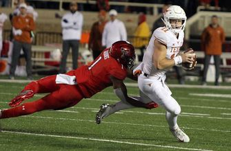 No. 19 Texas survives late rally by Texas Tech to win 41-34