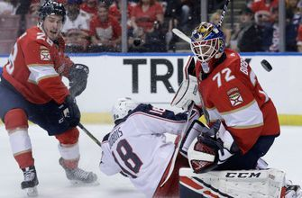 Sergei Bobrovsky stands tall against former team, Panthers outduel Blue Jackets 4-1