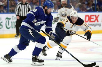 Nikita Kucherov reaches 100th point, lifts Lightning to 2-1 shootout win over Sabres