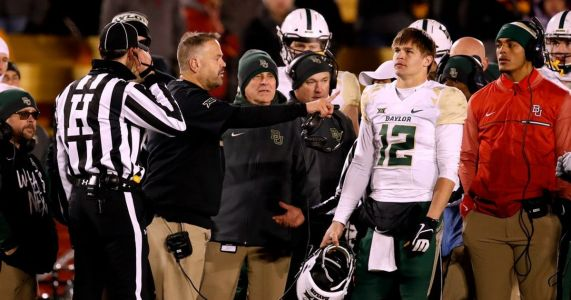 Baylor DE Greg Roberts suspended for first half vs. TCU following Iowa State brawl, no penalty for QB Charlie Brewer