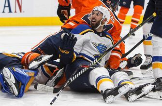 Blues start tough three-game Canadian road trip against resurgent Oilers