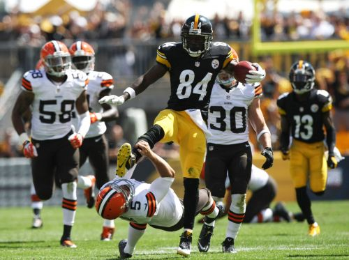 After Myles Garrett-Mason Rudolph brawl, Antonio Brown tweets photo of himself drop-kicking Browns punter