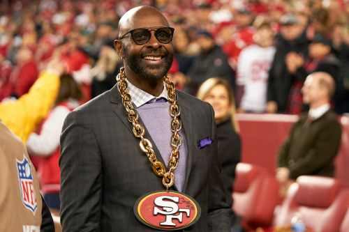 Jerry Rice going viral in new 49ers role: 'No. 1 cheerleader'