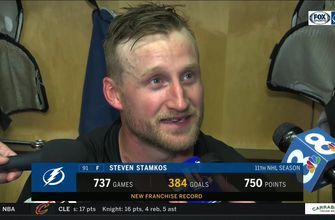 Steven Stamkos reflects on setting new franchise record as all-time goal leader