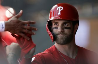 Harper returns as DH, 2 days after bruising ankle