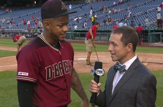 Ken Rosenthal talks with Ketel Marte after his two home run day
