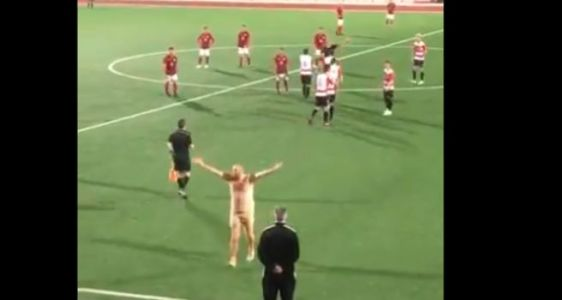 The Rocks of Gibraltar: Streaker Steals Show at Soccer Game