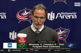 John Tortorella after 5-0 loss to Wild: 'There was nothing good about that game'