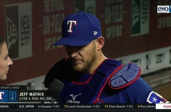 Jeff Mathis talks Rangers 4-3 win over Reds