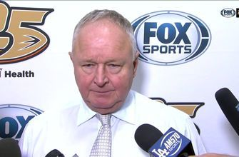 Ducks head coach Randy Carlyle comments on the 4-2 loss