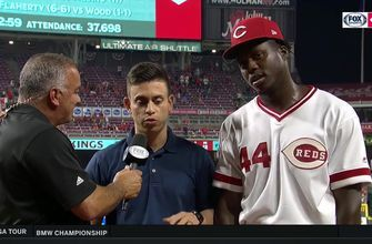 Aristides Aquino on history-making entrance into majors with Reds