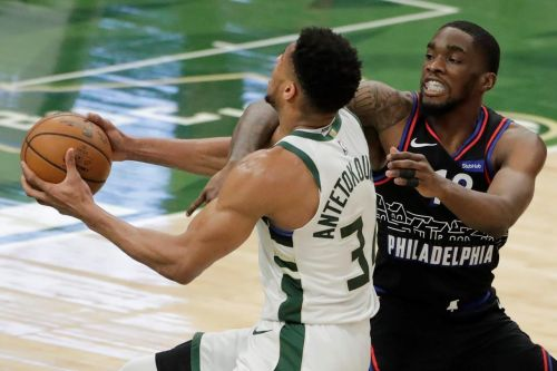Bucks start out strong, defeat 76ers 124-117