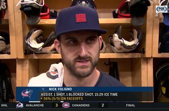Nick Foligno on Blue Jackets' tendency to go into lulls for several minutes at a time