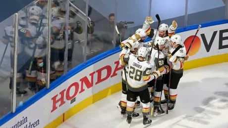 Tuch scores OT winner as Knights take top seed over Avalanche