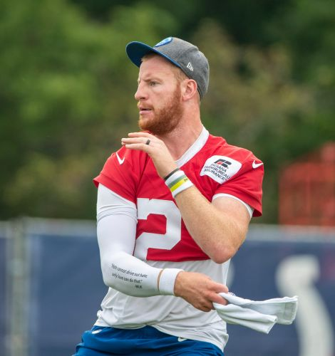 Colts evaluating extent of QB Carson Wentz's foot injury