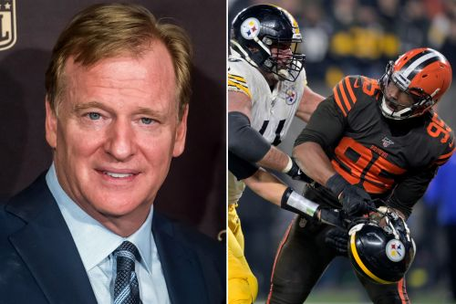 Roger Goodell upset over Myles Garrett-Mason Rudolph fight