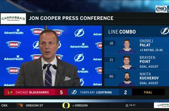 Jon Cooper talks about special teams, defense after 4th straight loss