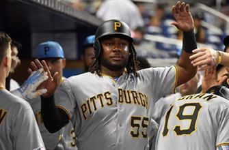 Pirates smack pair of doubles in 7th to top Marlins 5-4