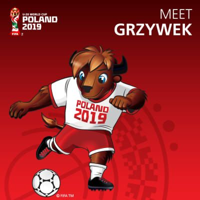 Grzywek revealed as Official Mascot of FIFA U-20 World Cup Poland 2019