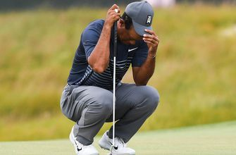 Tiger Woods in danger of missing the cut after shooting 8 over in Round 1