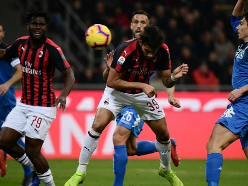 Franck Kessie on target in AC Milan's win over Empoli