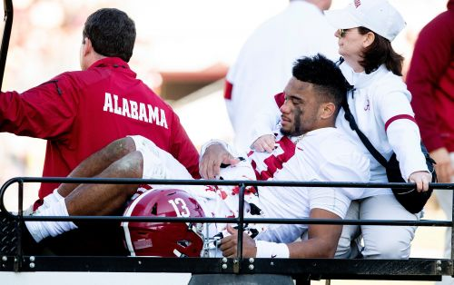 Alabama quarterback Tua Tagovailoa recovering after successful hip surgery