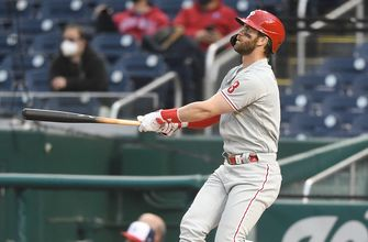 Bryce Harper belts seventh home run of season in Phillies win over Nationals, 6-2
