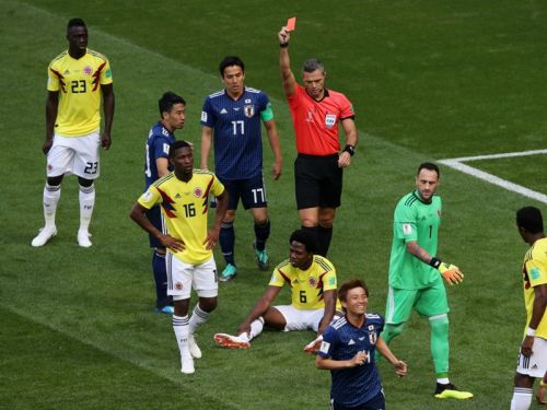 Colombia 1 Japan 2: Sanchez red spoils Pekerman's plans