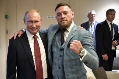 Conor McGregor watches World Cup with Vladimir Putin, praises Russian president