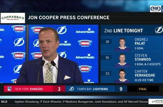 Jon Cooper breaks down Lightning's big win over Rangers
