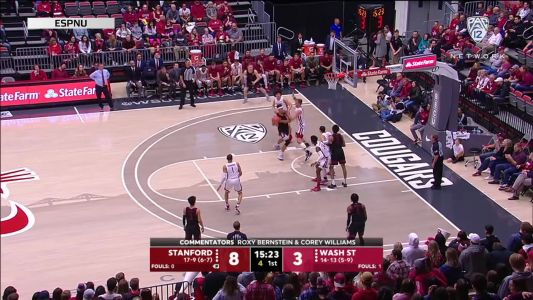Highlights: Stanford men's basketball gets first road sweep in two years, defeats Washington State 75-57