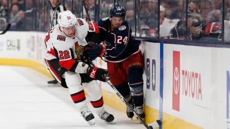 Stripped down Senators fall to Blue Jackets in OT of 1st game since trade deadline