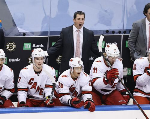 Carolina Hurricanes coach Rod Brind'Amour fined $25,000 after criticizing officiating in loss to Bruins
