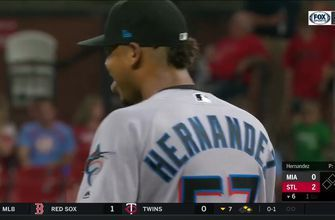 WATCH: Elieser Hernandez outs Marcell Ozuna with some behind-the-back defense