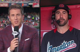 Kevin Burkhardt talks with Justin Verlander about his seventh All-Star game appearance
