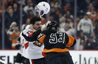 Laughton's two-point game leads Flyers past Senators