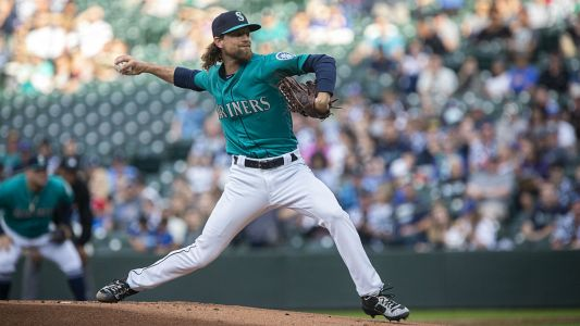 Mariners' Mike Leake loses perfect game in ninth inning vs. Angels, settles for a Maddux