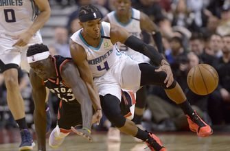 Rozier's late free throw lift Hornets past Raptors 99-96