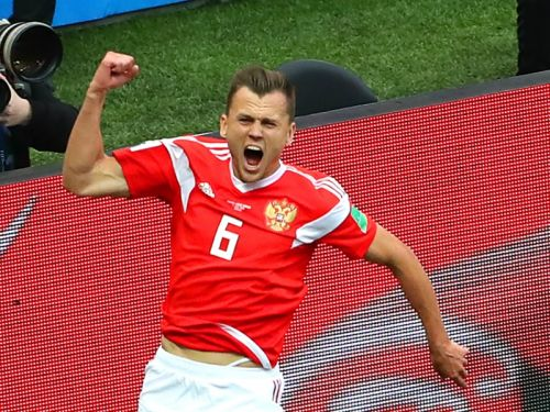 Russia 5 Saudi Arabia 0: Cheryshev, Golovin star in World Cup opener despite Dzagoev blow
