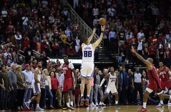 Bjelica's 3 at buzzer lifts Kings over Rockets 119-118