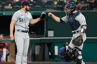 Mariners claw back from two two-run deficits, defeat Rangers, 5-4