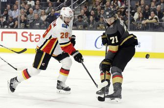 Karlsson, Fleury lead Golden Knights to 6-0 win over Flames