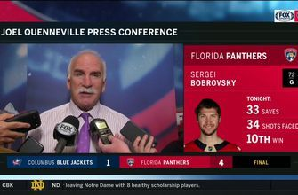 Joel Quenneville on the play of Sergei Bobrovsky: 'I liked everything about his game today'