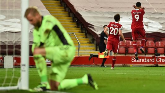 PL Update: Liverpool cruise past Leicester City
