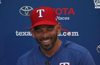Chris Woodward talks Rangers Walk-Off Win vs. Angels