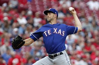 Minor gets 1st June win, Rangers beat Reds 4-3