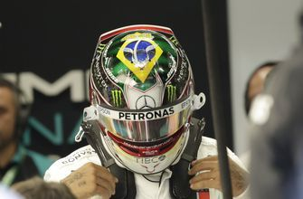 Hamilton unveils new Senna tribute helmet at Brazilian GP