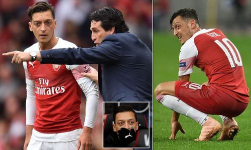 Has Unai Emery's patience with Mesut Ozil finally snapped?