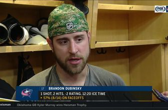 Brandon Dubinsky claims the Blue Jackets had every reason to put up a fight against the Capitals, but cannot explain why they didn't