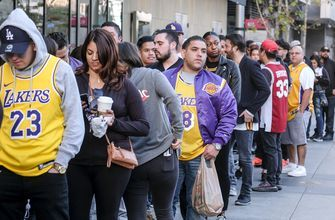 The Latest: Beyonce opens Kobe Bryant public memorial